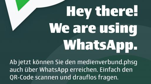 Grafik WhatsApp Hey there! We are using WhatsApp.